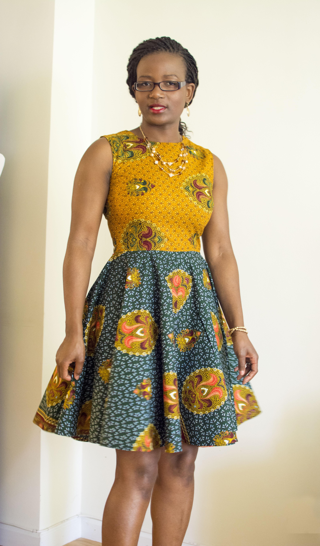 i sew my first dress � an african print skater dress